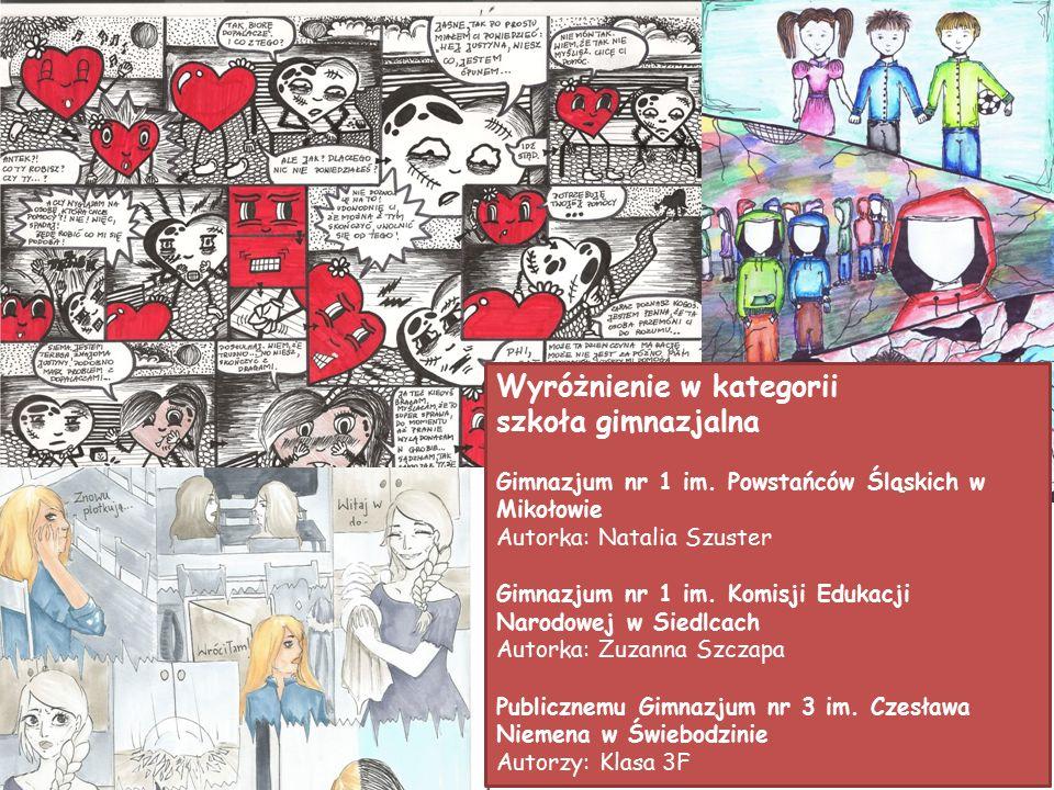 Wyróżnienie w kategorii szkoła gimnazjalna Gimnazjum nr 1 im.