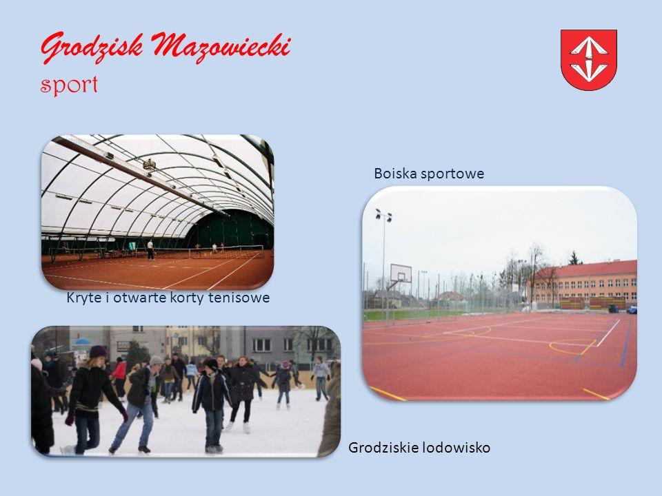Grodzisk Mazowiecki sport Kryte i otwarte korty tenisowe Boiska sportowe Grodziskie lodowisko