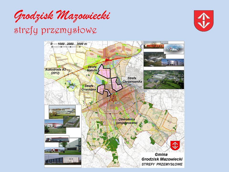 Grodzisk Mazowiecki strefy przemysłowe