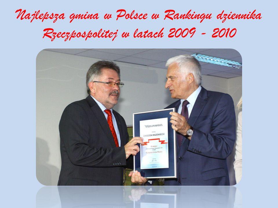 Najlepsza gmina w Polsce w Rankingu dziennika Rzeczpospolitej w latach 2009 - 2010