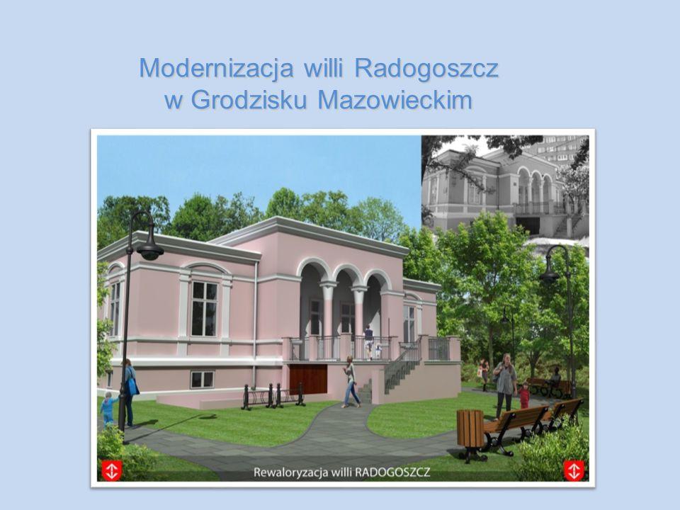 Modernizacja willi Radogoszcz w Grodzisku Mazowieckim