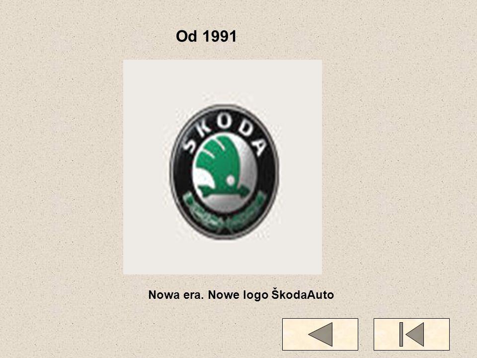 Od 1991 Nowa era. Nowe logo ŠkodaAuto