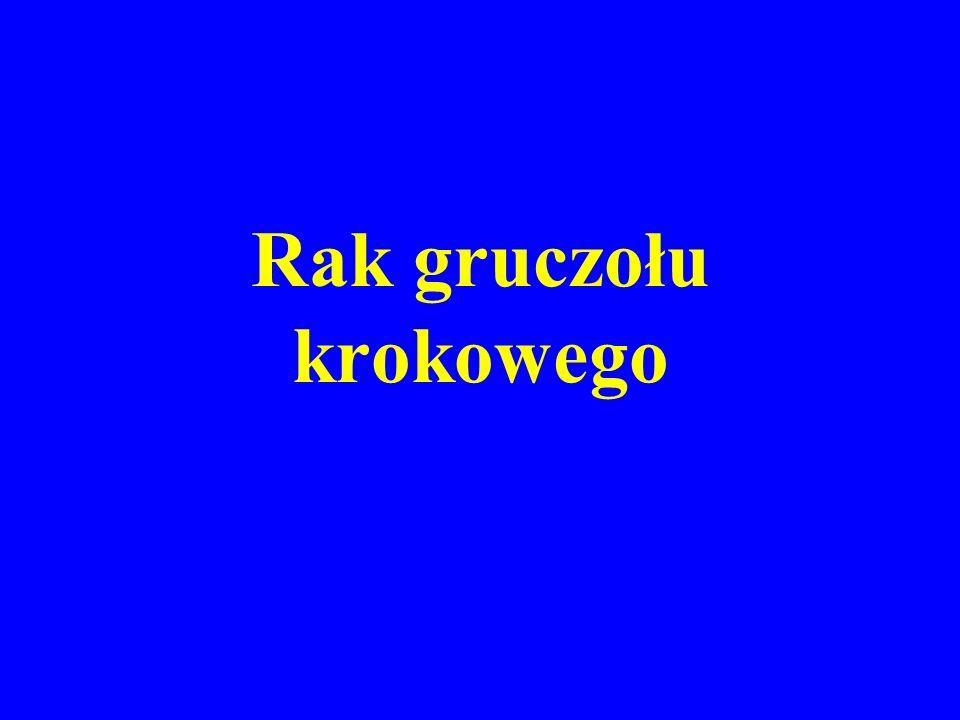 EPIDEMIOLOGIA RAKA PROSTATY Druga przyczyna zachorowań, trzecia przyczyna zgonów na nowotwory złośliwe w Polsce Stały wzrost zachorowań Głównie 8 dekada życia, niezwykle rzadko < 50.
