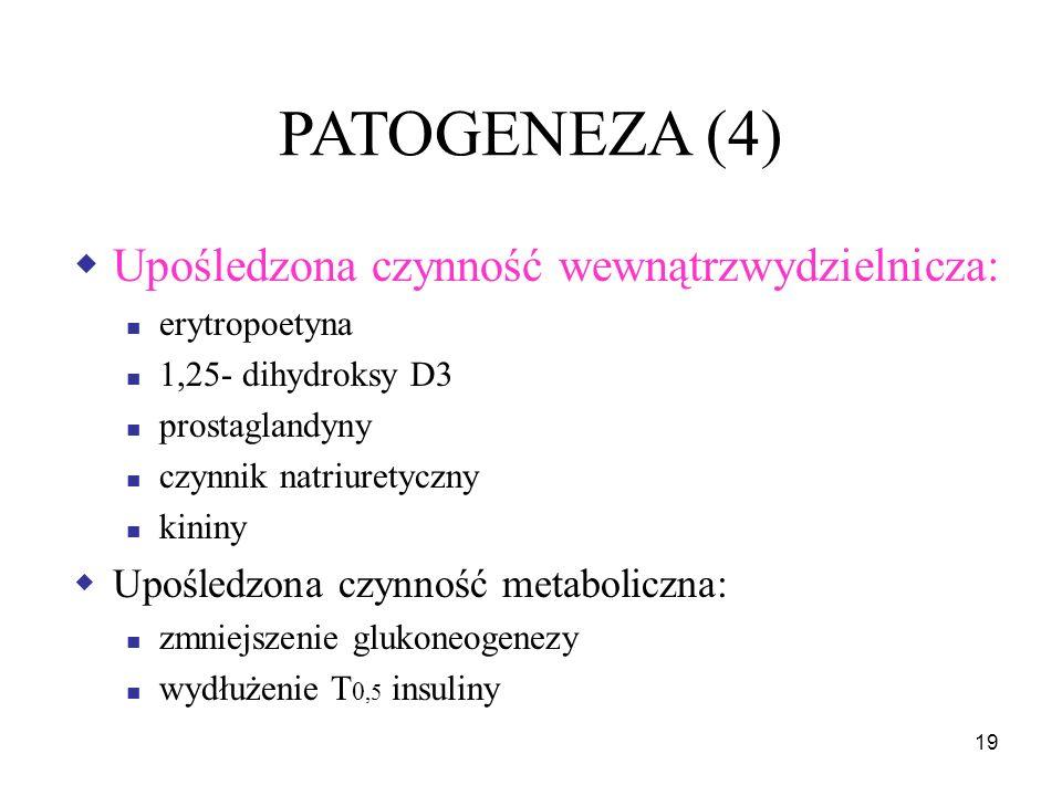 20 PATOGENEZA (5)  Mobilizacja mechanizmów adaptacyjnych przeciwdziałających zaburzeniom homeostazy
