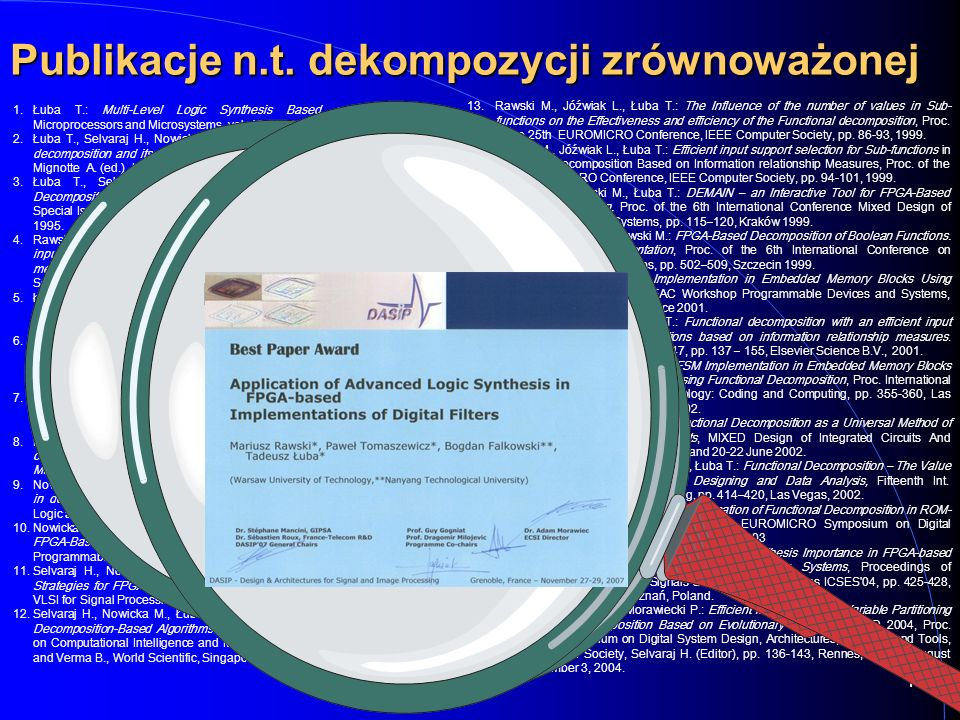 12 13. 13.Rawski M., Jóźwiak L., Łuba T.: The Influence of the number of values in Sub- functions on the Effectiveness and efficiency of the Functiona