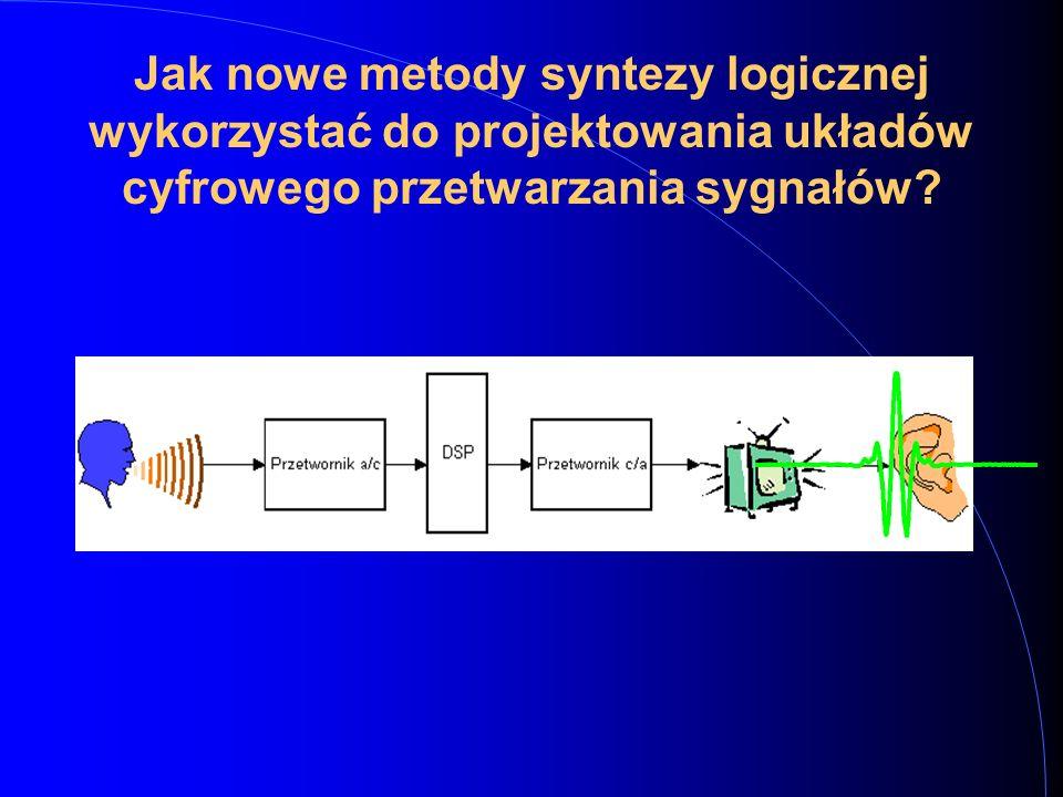 Jak nowe metody syntezy logicznej wykorzystać do projektowania układów cyfrowego przetwarzania sygnałów?