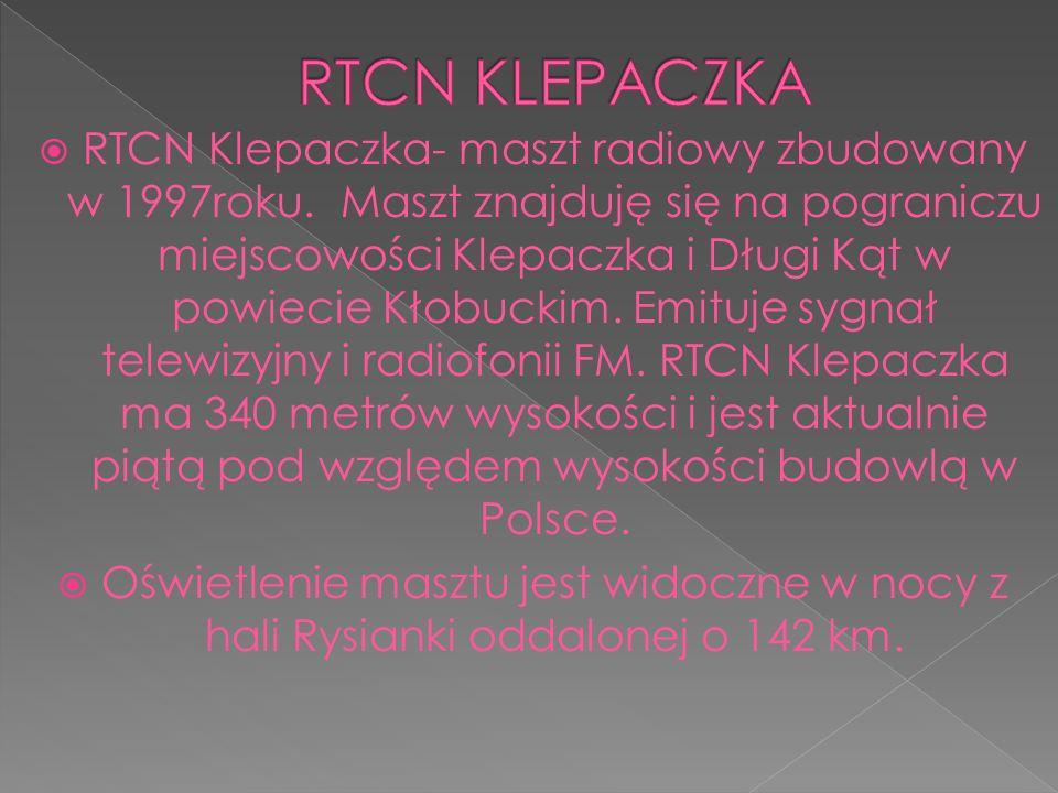  RTCN Klepaczka- maszt radiowy zbudowany w 1997roku.