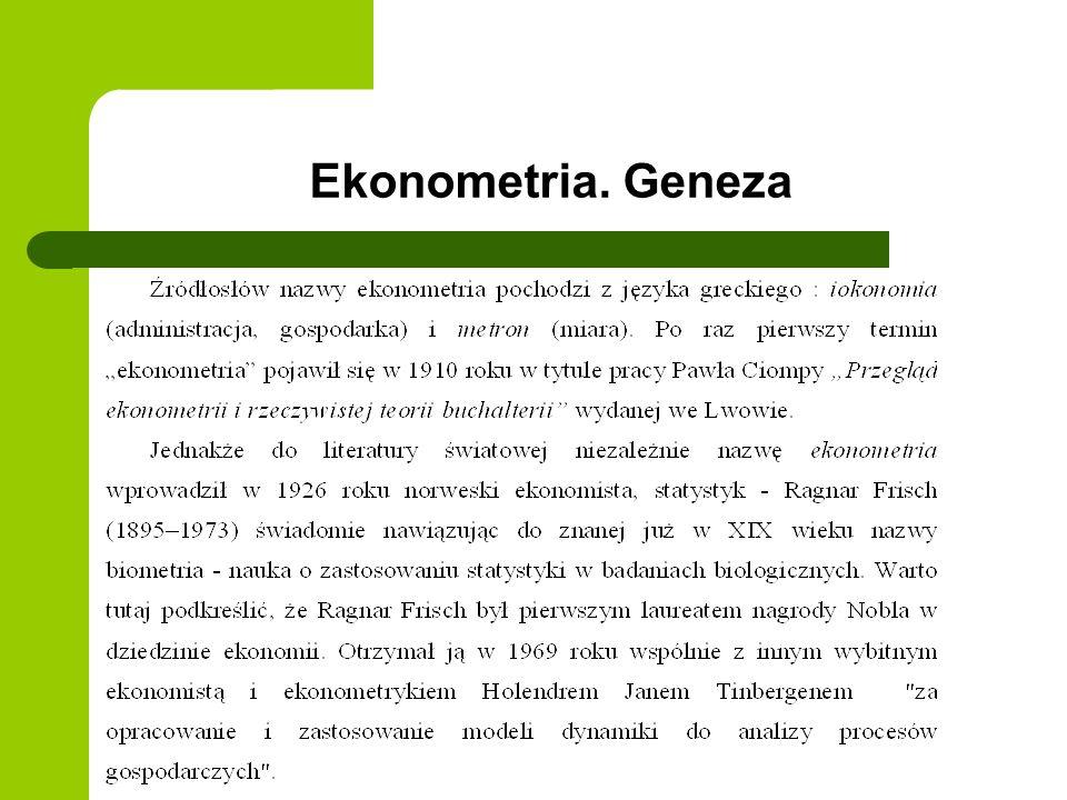 Ekonometria. Geneza