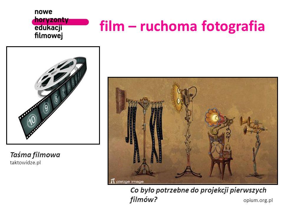 film – ruchoma fotografia Co było potrzebne do projekcji pierwszych filmów? opium.org.pl Taśma filmowa taktowidze.pl