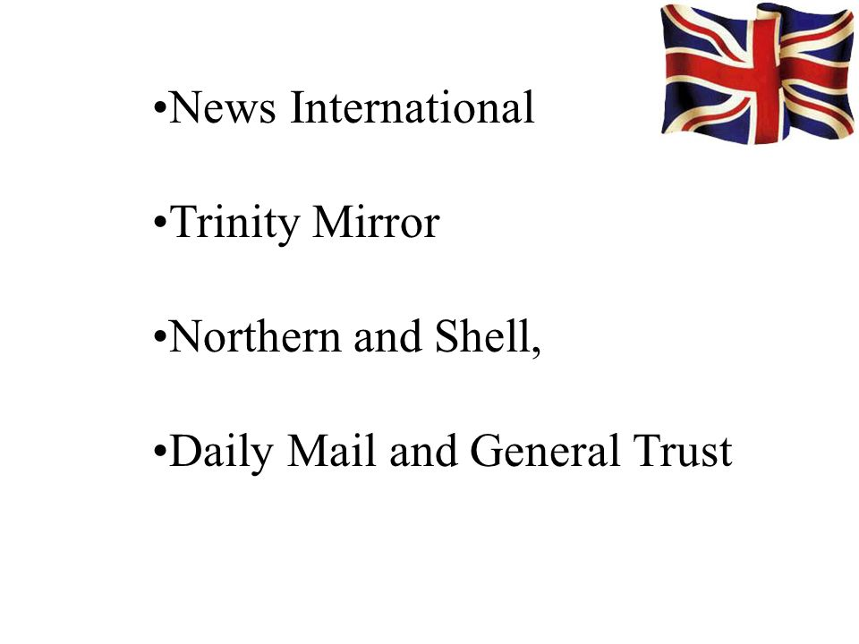 News International Trinity Mirror Northern and Shell, Daily Mail and General Trust