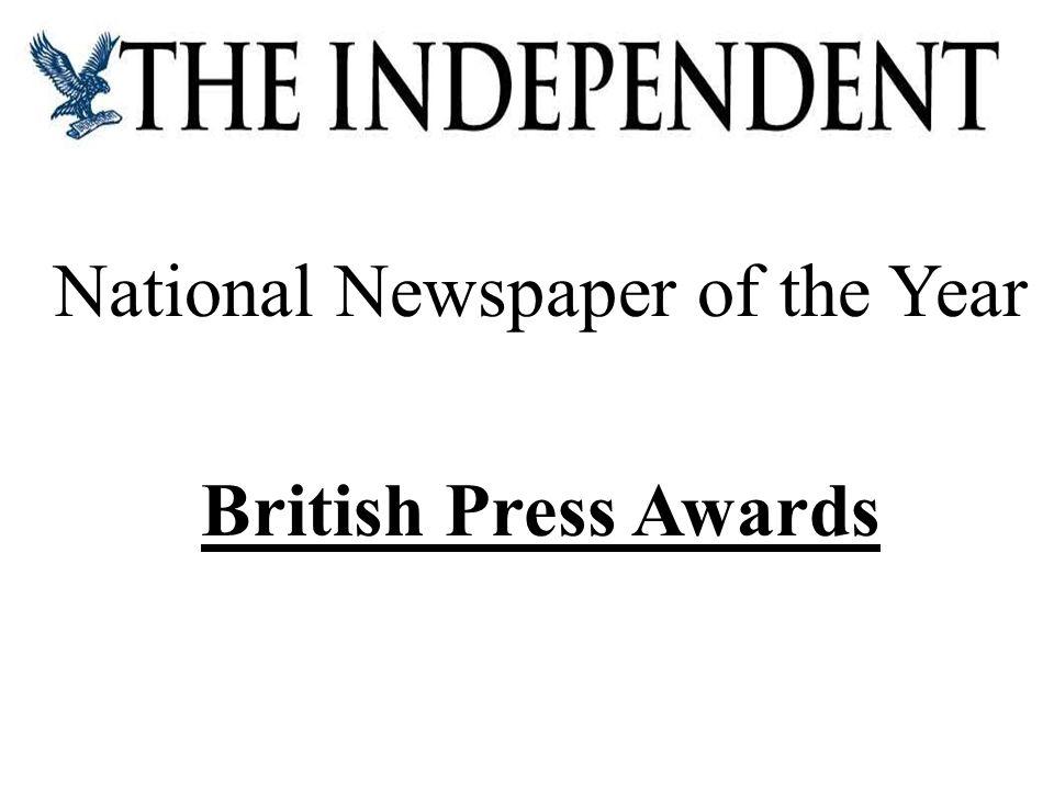 National Newspaper of the Year British Press Awards