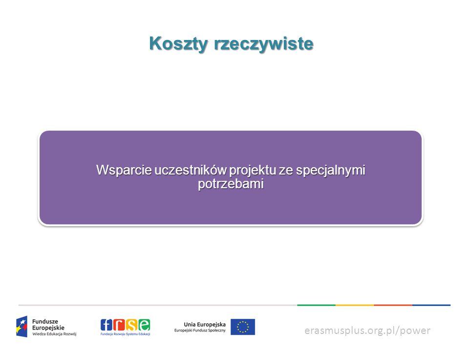 power.frse.org.pl/ksztalcenie-zawodowe Koszty ryczałtowe WSPARCIE INDYWIDUALNE Koszty bezpośrednio związane z utrzymaniem studentów.