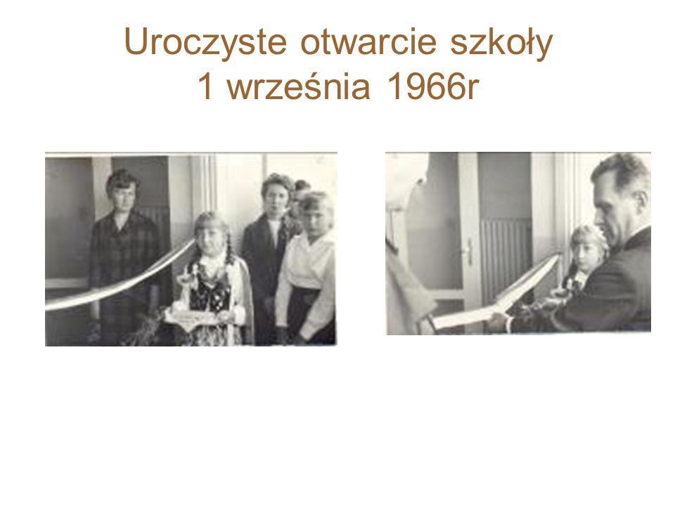 Uroczyste otwarcie szkoły 1 września 1966r