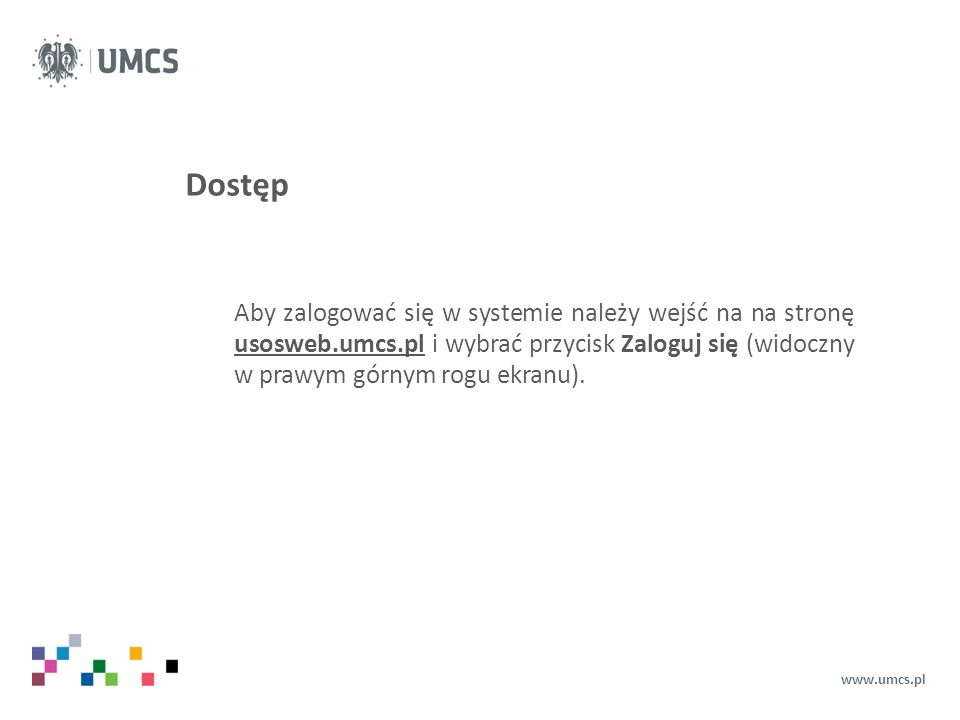 Ekran główny www.umcs.pl