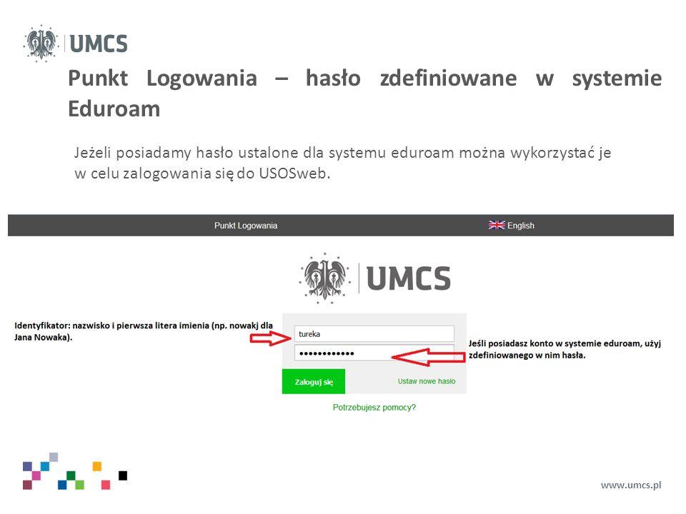 """Punkt Logowania – doktoranci www.umcs.pl Doktoranci, w celu zalogowania się powinni podać następujące dane: Identyfikator: dxxxxxx (w miejsce xxxxxx po literze """"d wprowadź numer legitymacji, znajdziesz go na swojej legitymacji, np."""