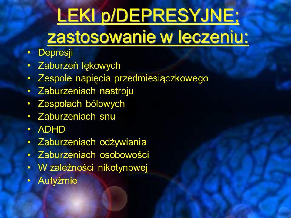 Różnicowanie depresji: Choroby tarczycy Choroby przytarczyc niedokrwistość hipoksja Choroby nowotworowe farmakoterapia Otępienie Choroba Parkinsona Choroby wątroby terapia steroidowa SLE, choroby tkanki łącznej