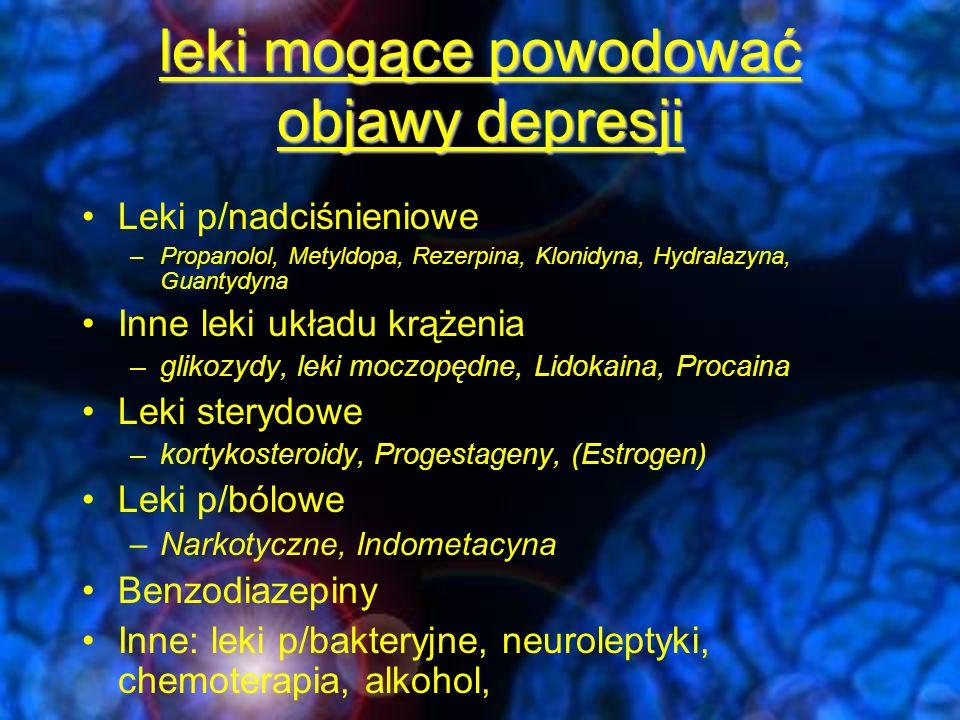 LEKI p/DEPRESYJNE Wszystkie grupy są stosunkowo skuteczne 50 –80%-odpowiada na leczenie Duże indywidualne zróżnicowanie w odpowiedzi na leczenie Efekt placebo na poziomie 25-40%