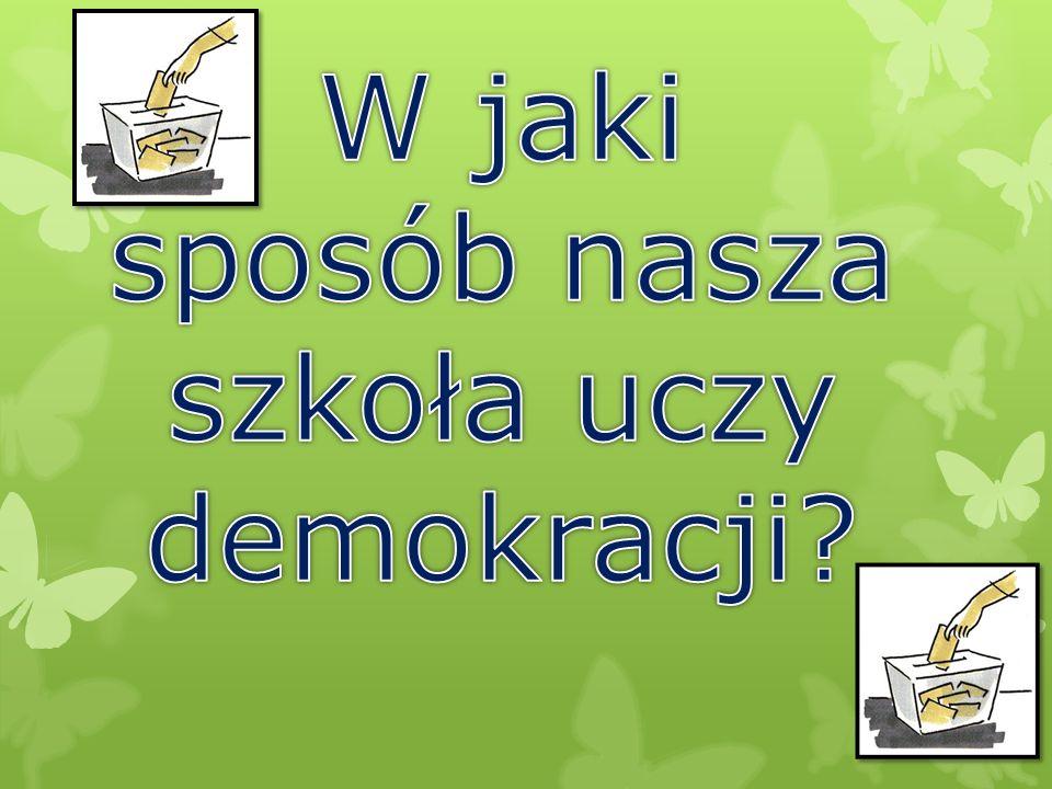 Sonda  II pytanie Czy nasza szkoła uczy demokracji?