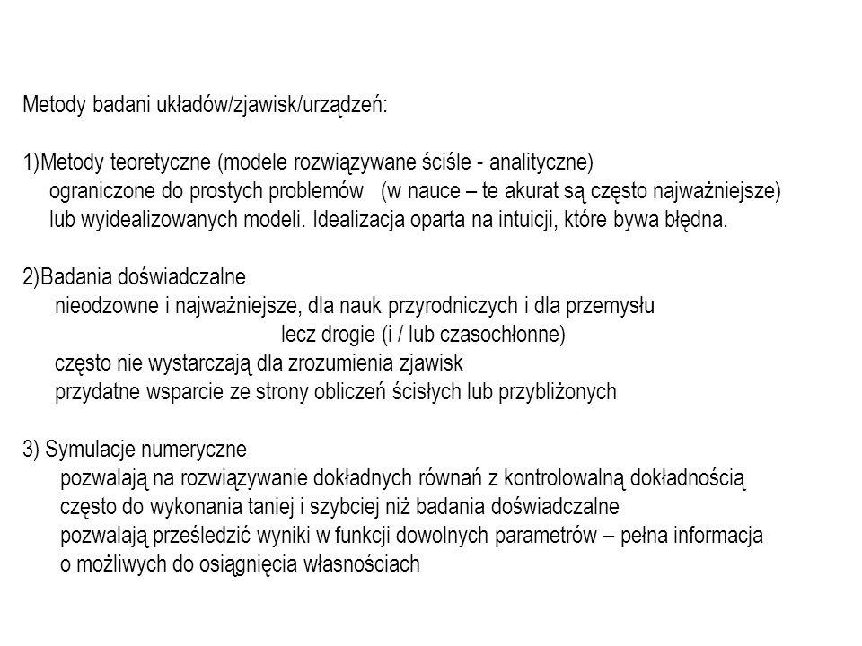 Tematyka wykładu: rozwiązywanie równań różniczkowych: zwyczajnych i cząstkowych.