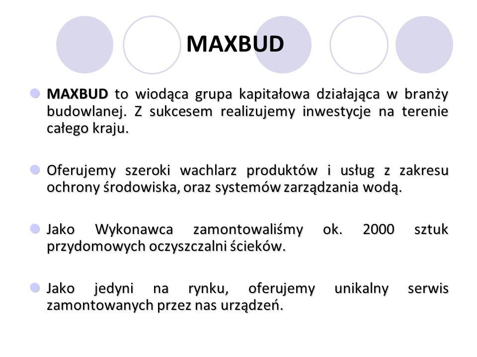 MAXBUD MAXBUD to wiodąca grupa kapitałowa działająca w branży budowlanej.