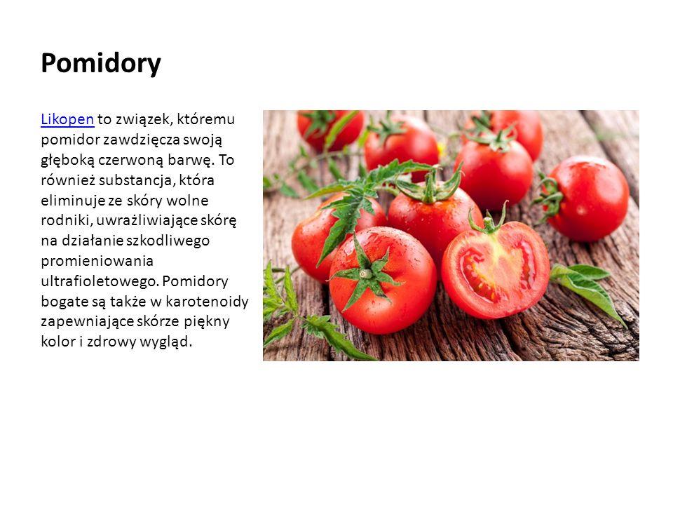 Pomidory LikopenLikopen to związek, któremu pomidor zawdzięcza swoją głęboką czerwoną barwę.