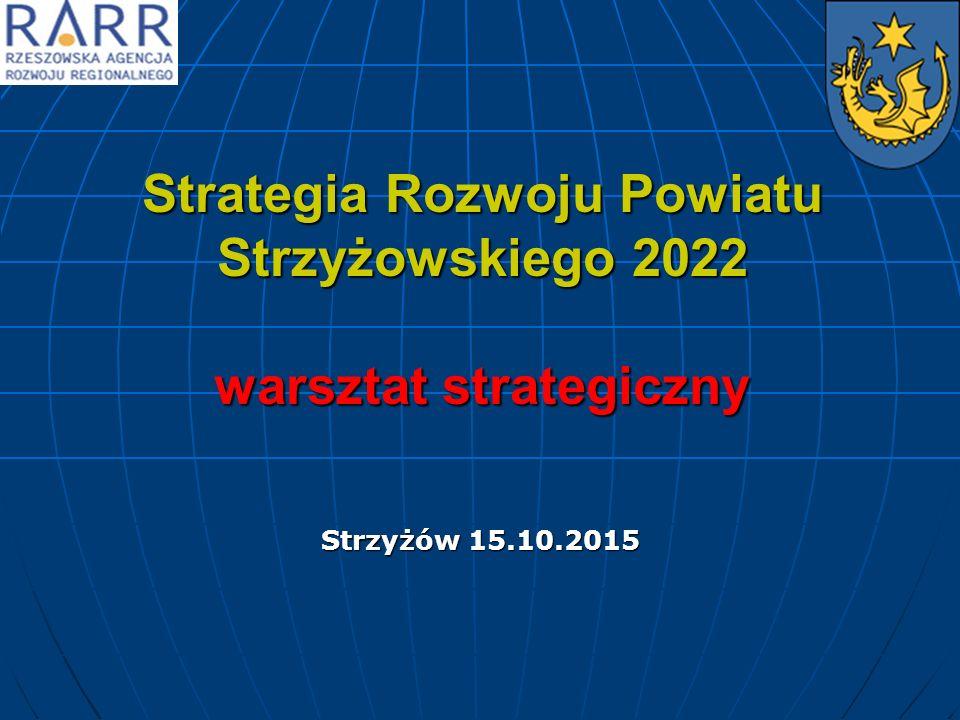 Strategia Rozwoju Powiatu Strzyżowskiego 2022 warsztat strategiczny Strzyżów 15.10.2015