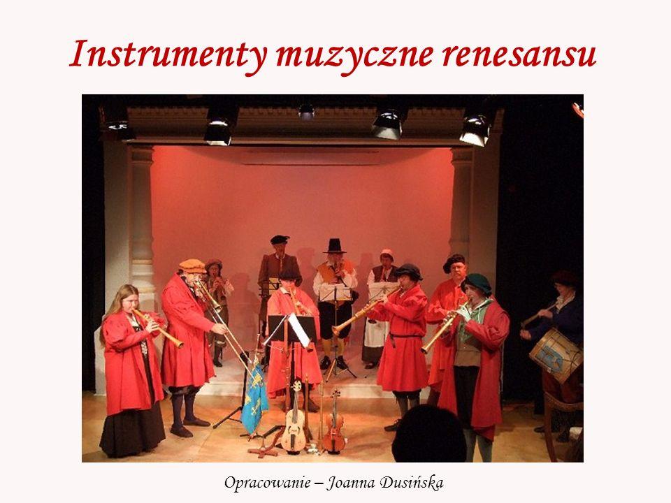 Instrumenty muzyczne renesansu Opracowanie – Joanna Dusińska
