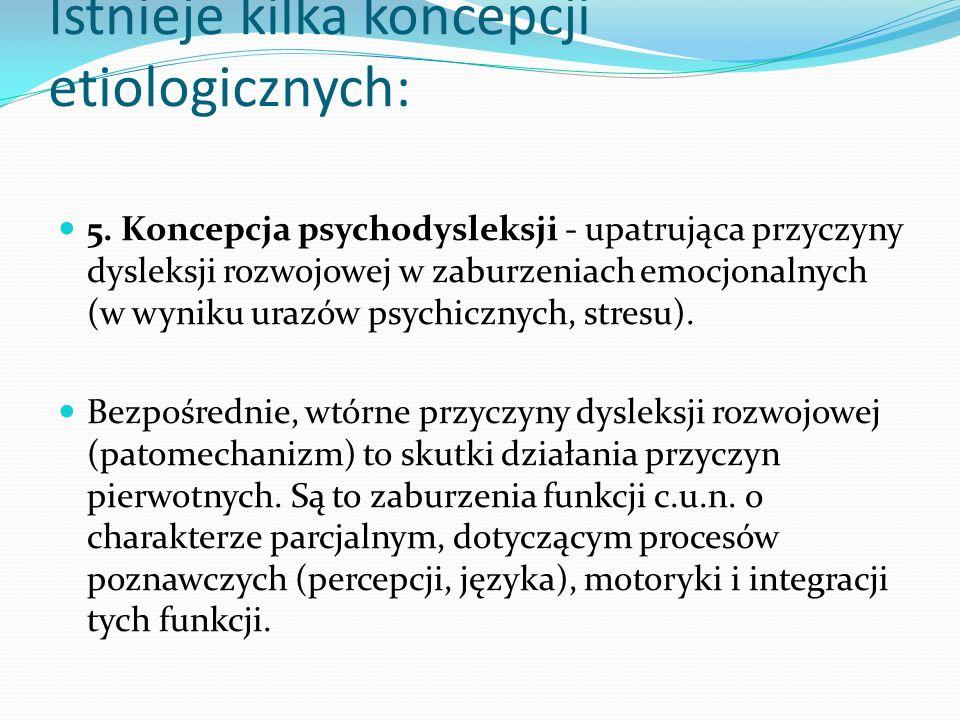 Istnieje kilka koncepcji etiologicznych: 5.