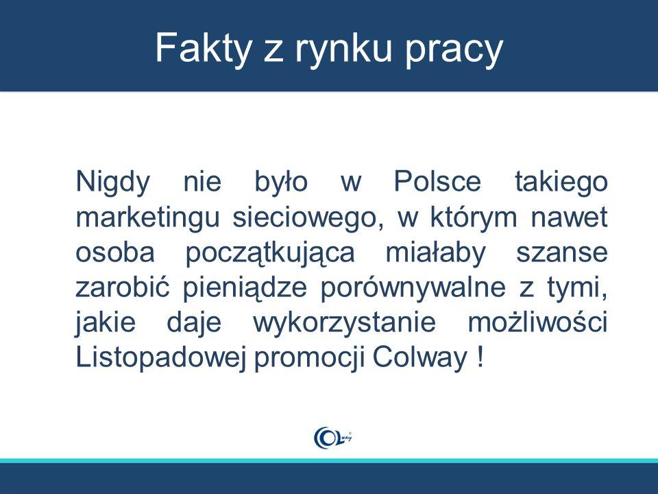 Fakty z rynku pracy Nigdy nie było w Polsce takiego marketingu sieciowego, w którym nawet osoba początkująca miałaby szanse zarobić pieniądze porównyw