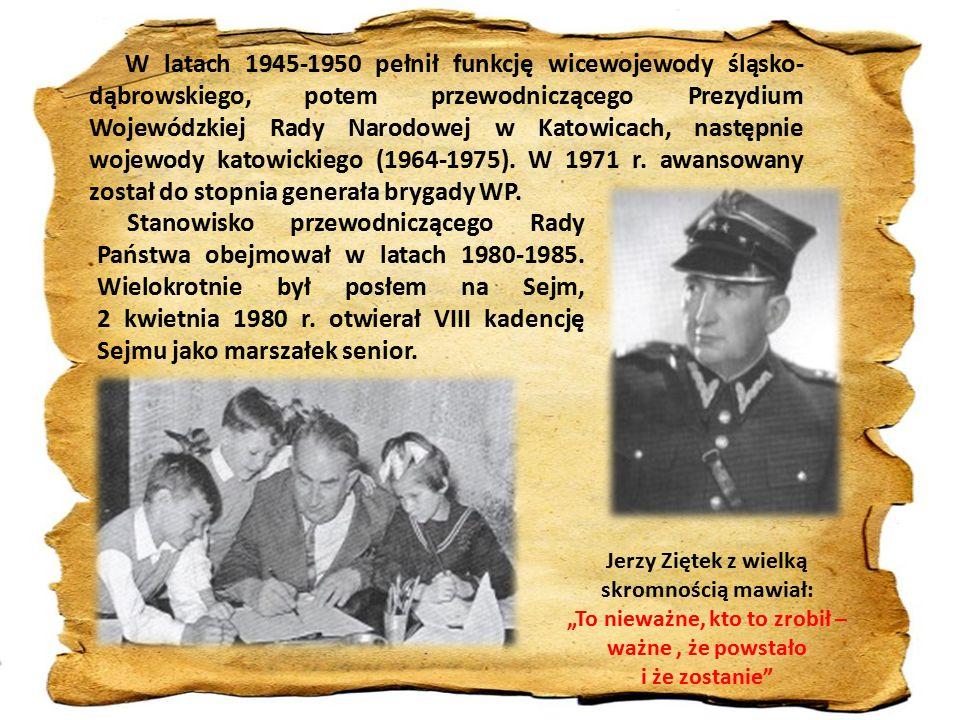 W latach 1945-1950 pełnił funkcję wicewojewody śląsko- dąbrowskiego, potem przewodniczącego Prezydium Wojewódzkiej Rady Narodowej w Katowicach, następnie wojewody katowickiego (1964-1975).