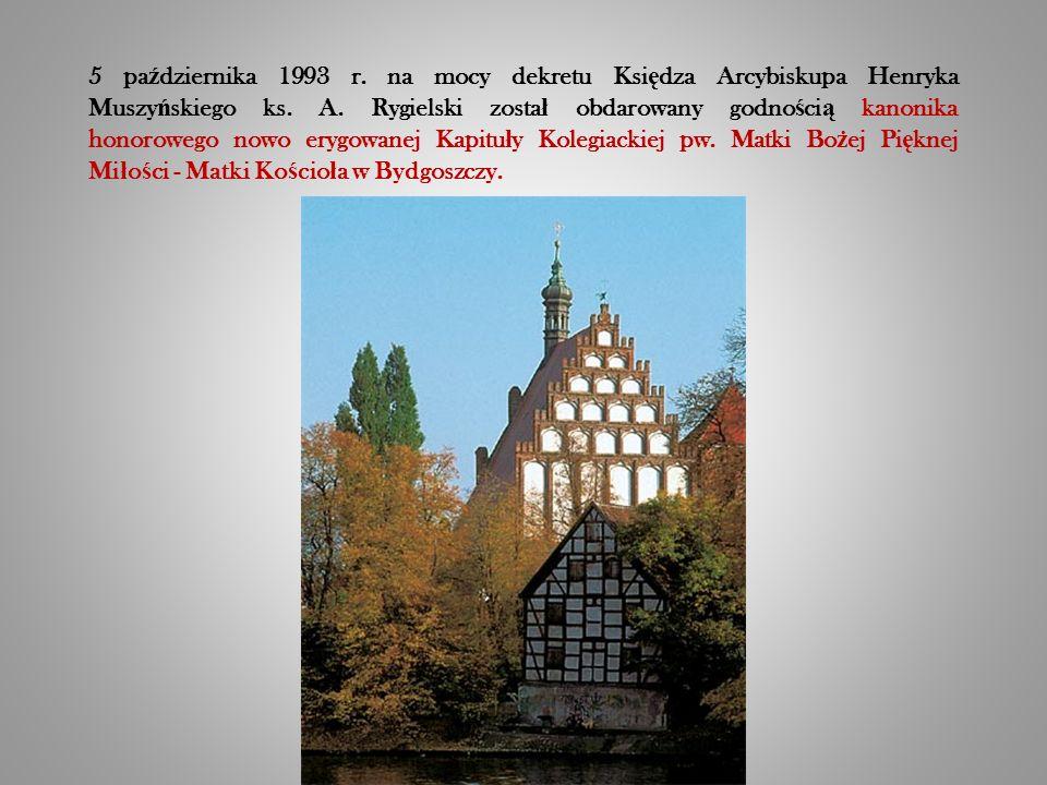 5 pa ź dziernika 1993 r. na mocy dekretu Ksi ę dza Arcybiskupa Henryka Muszy ń skiego ks.