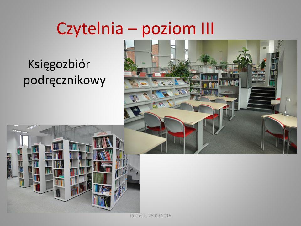 Czytelnia – poziom III Księgozbiór podręcznikowy Rostock, 25.09.2015