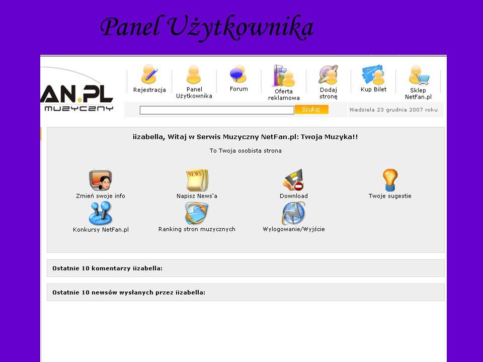 FORUM Użytkownicy www.netfan.pl mają możliwość korzystania z forum strony.