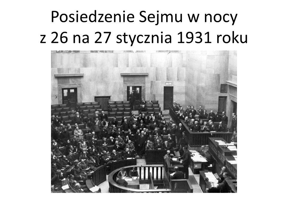 Posiedzenie Sejmu w nocy z 26 na 27 stycznia 1931 roku