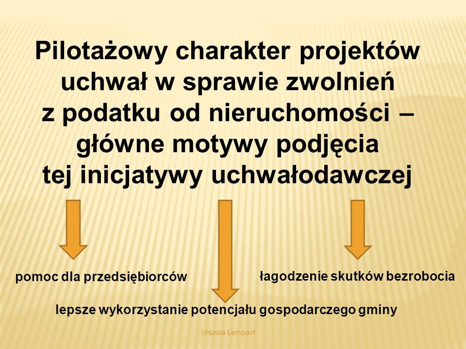 Słabe i mocne strony proponowanych projektów uchwał Wady: 1.Wąski zakres zdefiniowanych zwolnień, podyktowany ograniczonymi możliwościami budżetu gminy Krzeszowice.