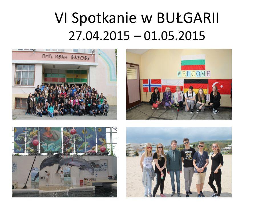 VI Spotkanie w BUŁGARII 27.04.2015 – 01.05.2015