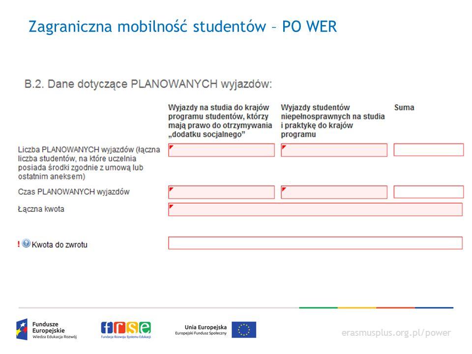 erasmusplus.org.pl/power Zagraniczna mobilność studentów – PO WER