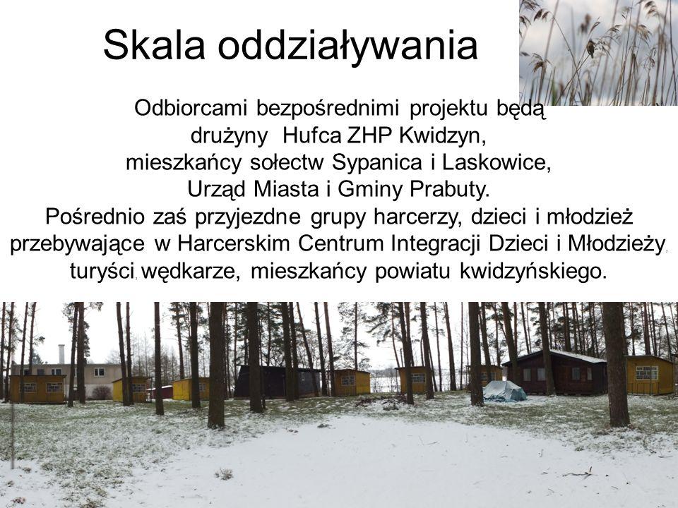 Skala oddziaływania Odbiorcami bezpośrednimi projektu będą drużyny Hufca ZHP Kwidzyn, mieszkańcy sołectw Sypanica i Laskowice, Urząd Miasta i Gminy Pr