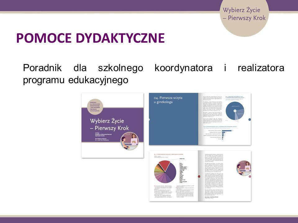 POMOCE DYDAKTYCZNE Poradnik dla szkolnego koordynatora i realizatora programu edukacyjnego