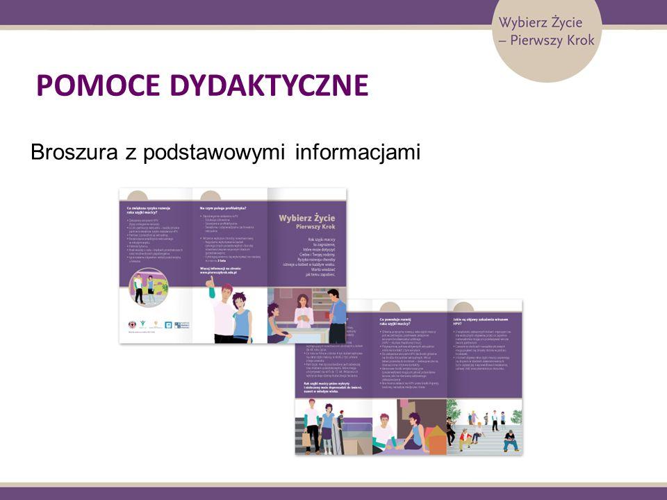 POMOCE DYDAKTYCZNE Broszura z podstawowymi informacjami