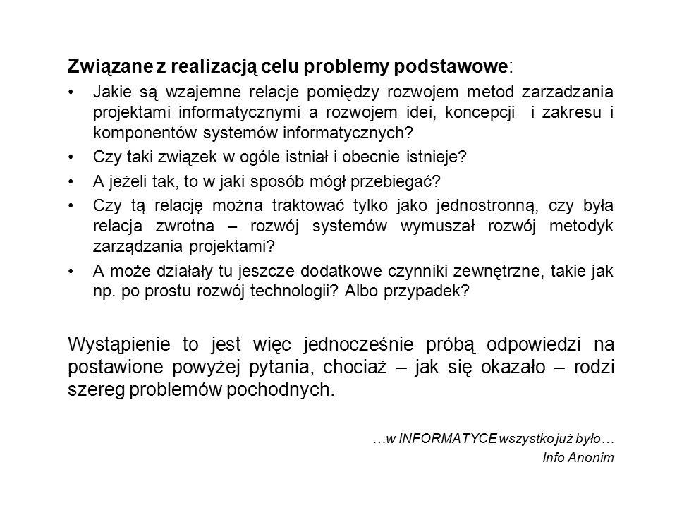 Platforma Korporacyjna Lata KonwergencjaKonwergencja Integracja PPD SZZ i MS PBD SJZ 1950 1960 1970 1980199020002010 1.1.