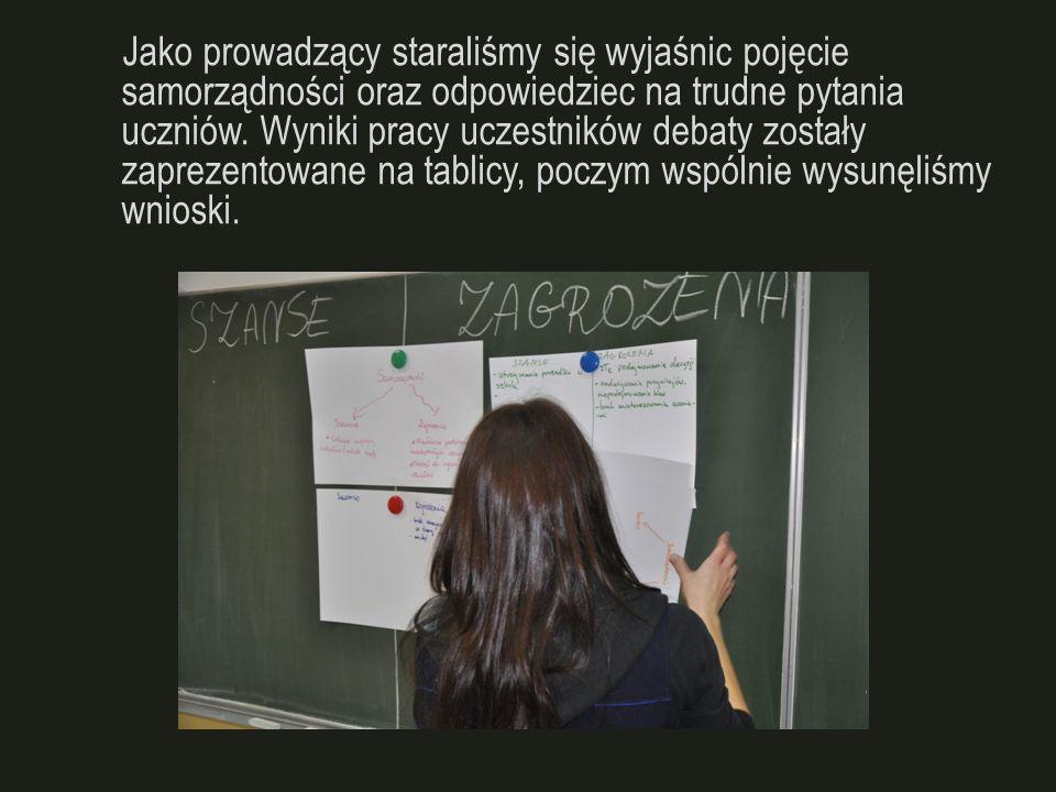 Wyniki naszej debaty ogłoszone zostały w artykule strony internetowej szkoły.