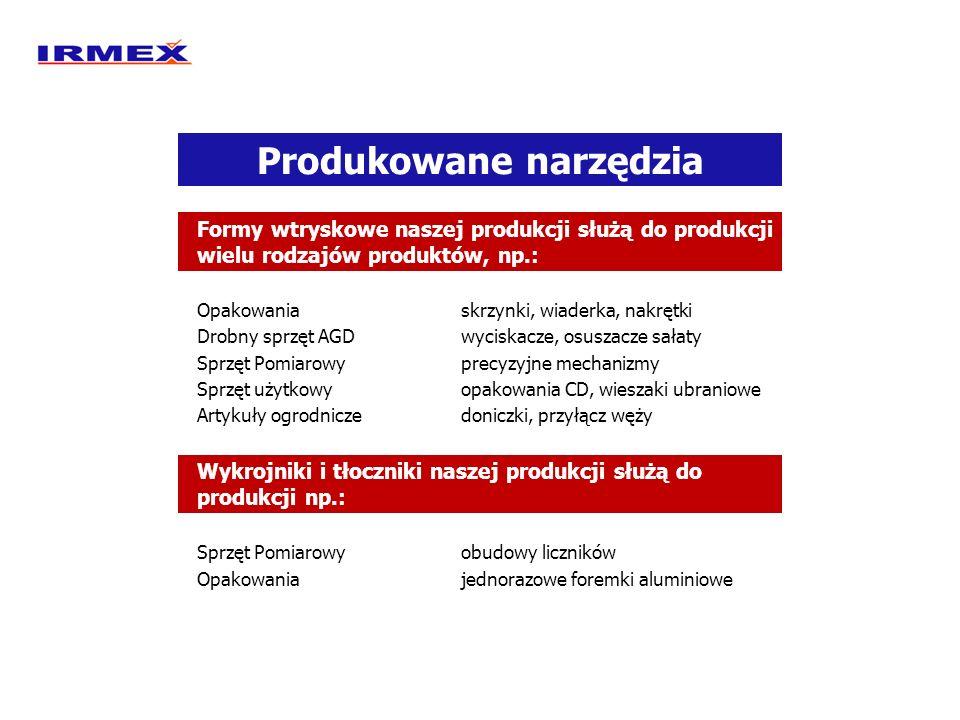 Produkowane narzędzia Formy wtryskowe naszej produkcji służą do produkcji wielu rodzajów produktów, np.: Opakowaniaskrzynki, wiaderka, nakrętki Drobny