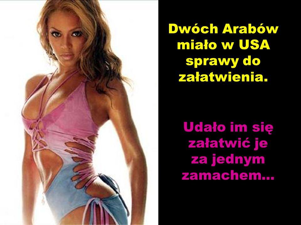 Dwóch Arabów miało w USA sprawy do załatwienia. Udało im się załatwić je za jednym zamachem...