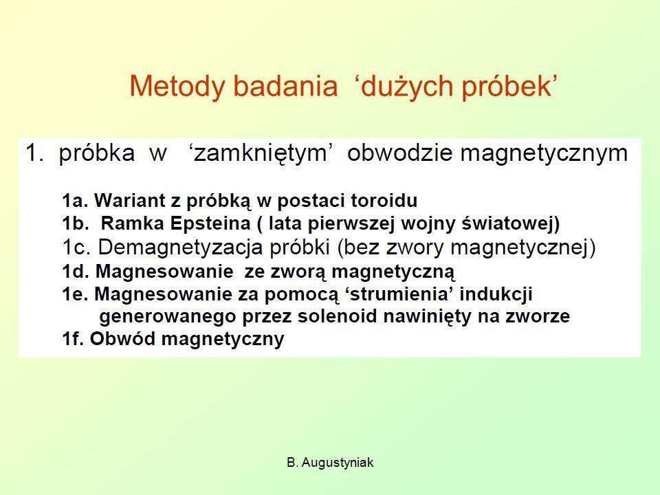 Metody badania 'dużych próbek' B. Augustyniak