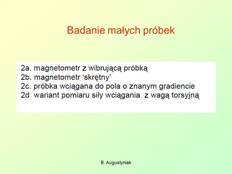 Badanie małych próbek B. Augustyniak