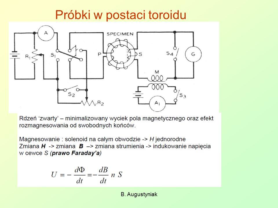 Próbki w postaci toroidu B. Augustyniak