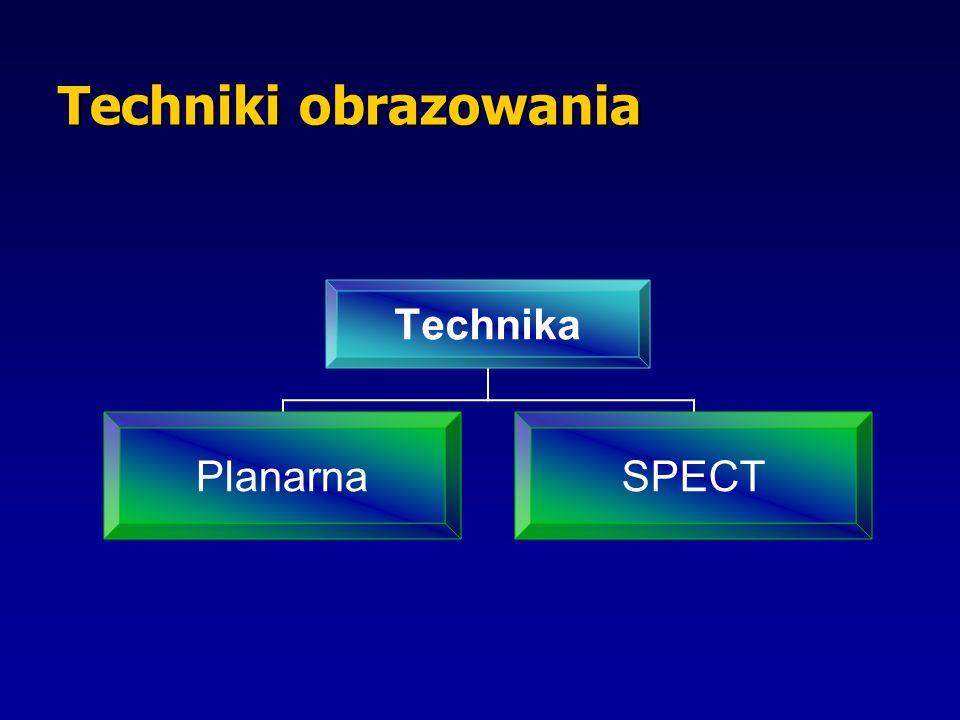 Techniki obrazowania Technika PlanarnaSPECT