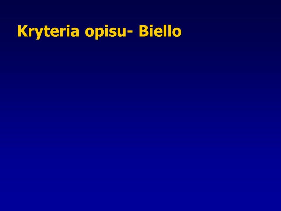 Kryteria opisu- Biello