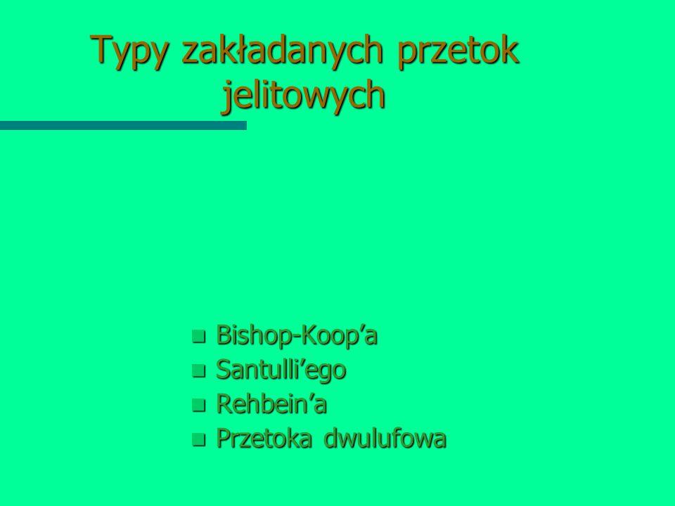 Typy zakładanych przetok jelitowych Bishop-Koop'a Santulli'ego Rehbein'a Przetoka dwulufowa
